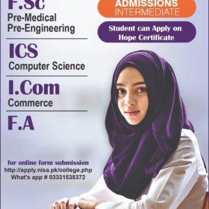 admission nisa 2021 fsc